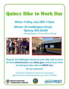 Quincy Bike to work flyer